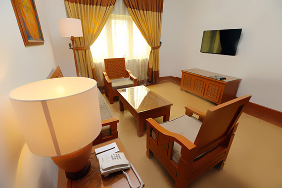 Junior suite at m suites hotel
