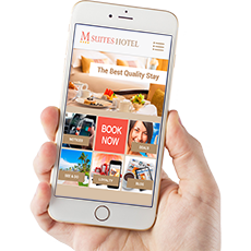 footer Mobile Application M Suites Hotel